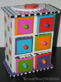 Jewelry Box Painted Jewelry Box Personalized by The Decorative Brush on Etsy