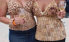 Never underestimate the creativity of women who have been drinking wine...