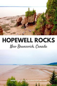 Twice a day one hundred billion tonnes of water flows in and out of the Bay of Fundy, creating the highest tides in the world. Let these photos convince you to visit Hopewell Rocks, a gorgeous destination along the Bay of Fundy in New Brunswick, Canada! Places To Travel, Travel Destinations, Places To Go, Travel Stuff, East Coast Canada, Hopewell Rocks, New Brunswick Canada, East Coast Road Trip, Atlantic Canada