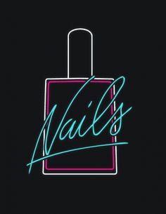 #AmericanApparel is Nails! #nails #nailpolish #neonlight