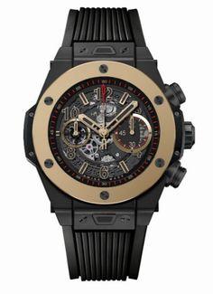 Hublot Big Bang cronografo in ceramica e oro #hublot #curnis #orologeria #gioielleria #watches #topbrand #technology #ceramica #oro