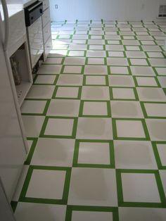 linoleum floor paint. {Beautiful Nest}: Painted Vinyl Floor