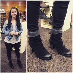 Here's Kenzie looking adorable in her new waterproof Barlow boots from Bos & Co. paired with some luscious @hueofficial socks. #boots #leather #waterproof @childish.kenzino #shoes #instashoes #instaboots #fashion #shopping #fall #winter  #brookline @flylondonnyc