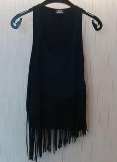 Kup mój przedmiot na #vintedpl http://www.vinted.pl/damska-odziez/bluzki-bez-rekawow/13760812-elegancka-bluzka-z-fredzlami