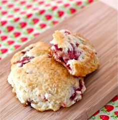 Strawberry-Rhubarb Drop Scones | 29 Ways To Eat Strawberries And Rhubarb In Blissful Harmony