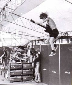 Malcolm Young and Angus Young of AC/DC
