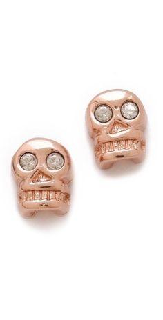 Bing Bang Skull Stud Earrings       $52.00