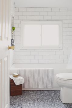 love penny tile grey with black or grey grout would this work in MY bath and hallway too?
