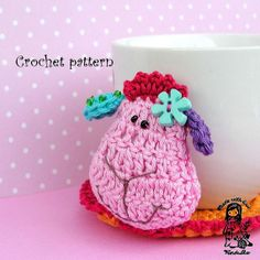 Crochet Pattern  Sheep coaster by VendulkaM on Etsy, $4.00