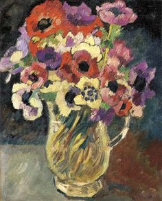 Anémones, Louis Valtat. French Fauvist Painter (1869 - 1952)