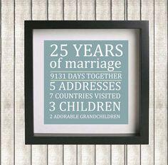 Printable Parent's Wedding Anniversary Custom by GotPaperDesigns, $7.95