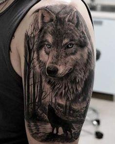 Znalezione obrazy dla zapytania wolf tattoo - My list of the most creative tattoo models Wolf Tattoos Men, Red Ink Tattoos, Black Cat Tattoos, Circle Tattoos, Animal Tattoos, Body Art Tattoos, Tattoos For Guys, Owl Tattoos, Tattoo Ink