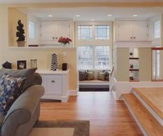 open floor plan // step down // multi-level