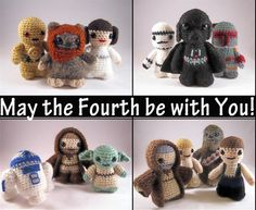 May the fourth be with you! Amigurumi patterns by Lucy Ravenscar (used with permission)