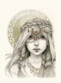 e00abcf00f5 Maebe by *NadezhdaVasile on deviantART Girl Sketch, Sketch Pad, Fantasy  Illustration, Character