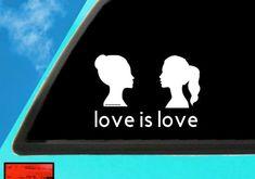 Gay Decal | Gay Sticker | Gay Vinyl | Lesbian Bumper Sticker | Love Is Love Decal | Gay Pride Decal Car Decals, Bumper Stickers, Vinyl Decals, Mermaid Art, Transfer Paper, Gay Pride, 6 Years, Lesbian, Surface