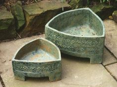 Ceramics by Karin Hessenberg at Studiopottery.co.uk - Curver Planters - Large…