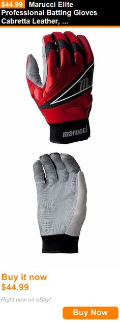 Other Baseball Clothing and Accs 159062: Marucci Elite Professional Batting Gloves Cabretta Leather, Red Size: Large BUY IT NOW ONLY: $44.99