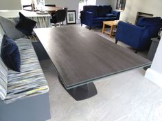 Extendable table Victoria with Blaze Dark ceramic top and Grafitto matt frame. Available in other sizes and configurations. Delivered to our client in Berkshire. Contemporary Furniture, Contemporary Design, Leather Bed, Sofa Design, Modern Bedroom, Sideboard, Sofas, Dining Table, Victoria