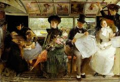 George William Joy (1844-1925) - The bayswater Omnibus (1895)