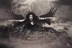 Angel of the Darkness by babsartcreations on DeviantArt Fantasy World, Fantasy Art, Dark Blood, Beautiful Dark Art, Dark Images, Blue Horse, Angel Art, Photo Manipulation, Art World
