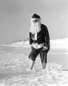Santa Claus at the beach: Panama City Beach, Florida by State Library and Archives of Florida, via Flickr