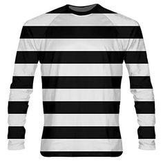 8a7b216a14 Black Striped Long Sleeve Shirts - Burglar Costume Shirts