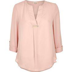 Light pink gold trim blouse �32.00