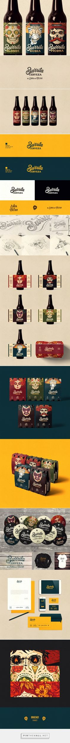 Cerveza Burrita packaging design by Konkon - http://www.packagingoftheworld.com/2017/12/cerveza-burrita.html