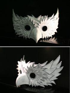 Owl Mask by wolf-antlers on DeviantArt - Eule Wolf Maske, Cardboard Mask, Bird Masks, Leather Mask, Animal Masks, Masks Art, 3d Prints, Paperclay, Diy Mask