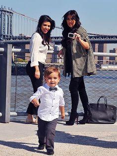 Kim Kardashian with Kourtney Kardashian and her son Mason! Kourtney Kardashian, Kim And Kourtney, Kardashian Family, Kardashian Style, Kardashian Jenner, Kardashian Fashion, Baby Boy Fashion, Toddler Fashion, Kids Fashion