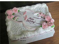 good night i love u babe morning mai jaldi ana app thik ha na ❤️ Cake Icing, Buttercream Cake, Eat Cake, Cupcake Cakes, Wedding Sheet Cakes, Birthday Sheet Cakes, Cake Decorating Techniques, Cake Decorating Tips, Pretty Cakes