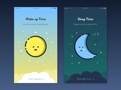 Alarm concept telling you what time it is in a friendly and cute way.  -Inspired by @MBE 's illustrations