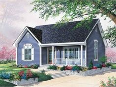 Eplans House Plan: This quaint cottage home pleases residents with accomodations for both family and guests. The vestibule is a convenient place for removing coats and shoes before entering the house. A guest bedroom is on th