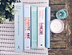 """pollyandbooks: """" Icy blue books for an icy cold day. ❄️ """""""