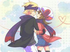 Pokemon - Matsuba x Kotone~( Morty x Lyra ) by Foxmi