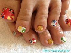 Nail Art of the Olympic    今が旬ユニオンジャックフットネイル
