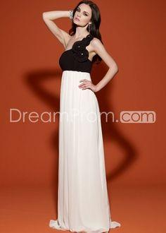 Floor-length A-Line One-shoulder Evening Dresses