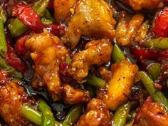 Chicken and Green Bean Stir Fry (With Sweet Chii Sauce Good Meatloaf Recipe, Best Meatloaf, Meatloaf Recipes, Steak Recipes, Thai Chicken Stir Fry, Sweet Chili Chicken, Orange Chicken, Crispy Chicken, Spinach Stuffed Mushrooms