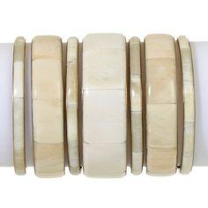 "BAJALIA ""Nizam"" Bone and Brass Set of 7 Bracelets"