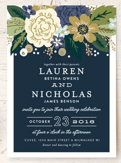 Gorgeous floral invite design by @minted