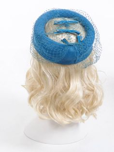 Vintage 50's Hat // Teal Net Hat // Bird Cage by SwellFarewell, $21.00