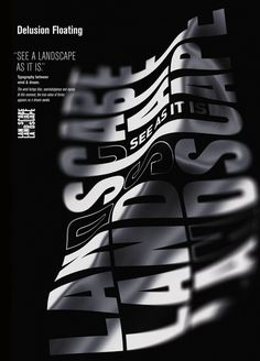 delusionfloating by faak & paat studio - typo/graphic posters Graphic Design Posters, Graphic Design Typography, Graphic Design Inspiration, Retro Typography, Typography Alphabet, Japanese Typography, Creative Typography, Typography Quotes, Typo Poster