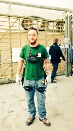 #sustainableemployability. Laevo exoskeleton in use.