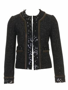 Burda Al estilo Coco Chanel. Boucle Jacket, Tweed Jacket, Leather Jacket, Chanel Fashion, Diy Fashion, Ideias Fashion, Chanel Style Jacket, Jacket Style, Estilo Coco Chanel