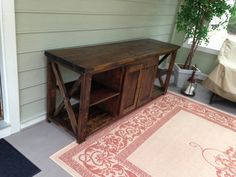 Rustic Farmhouse X Media Console / TV by RVAantiquesandthings