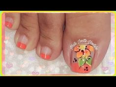 YouTube Pretty Toe Nails, Pretty Toes, Cute Nails, Pedicure Nail Art, Toe Nail Art, Toe Nail Designs, Creative Nails, Short Nails, Nail Arts