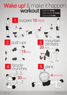 HIIT Workout. Perfect for the days I can't make it to the gym or class!