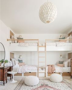 Home Bedroom, Girls Bedroom, Bedroom Decor, Girls Bunk Beds, Modern Kids Bedroom, Bedrooms, Bedroom Ideas, Master Bedroom, Custom Bunk Beds