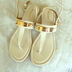 COACH GRACIE swagger sandal These brand new never-been-worn before Coach Shoes are a must have for your closet they are light and easy to wear, which is the perfect thing for summer chic. Size 8 (USA) Coach Shoes Sandals